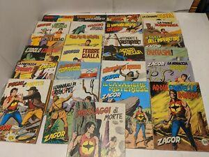 Lot of 25 Zenith Gigante Zagor Italian Comics