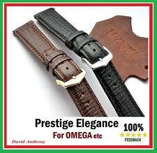 17mm 18mm 19mm 20mm 21 22 Prestige elegancia se ajusta Omega estilo cuero reloj correa