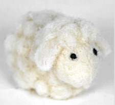 New Pin Felt Needle Felted Collectible Miniature Tiny Wool Sheep Gift Keepsake