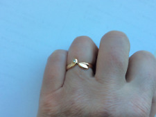 14ct (585) solid rose gold ring with small natural diamond