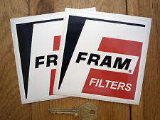 """FRAM FILTERS Dragster Decal Stickers 4"""" Pair Classic Car Race Car USA Hot Rod"""