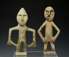 Ethnographic art sculptures: Moroccan Soapstone Stone Hand Carved Figures (2)
