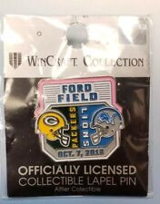 Green Bay Packers vs Detroit Lions 10/7/18 BRAND NEW GAME DAY PIN Ships Free