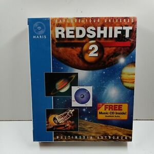 Redshift 2: Multimedia Astronomy CD-ROM for Windows/Macintosh Vintage! 1995