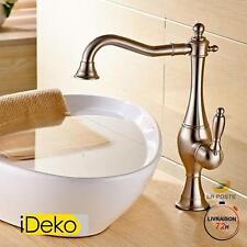 Robinet lavabo rétro haut mitigeur salle de bain à rotatif robinet vasque