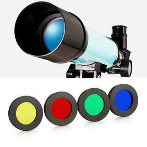 Telescope Four-color Acrylic Filter Eyepiece Lens Filter with Inch Thread