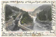 Norway Kristian Bandak Kanal PPC 1904 Paquebot PMK Canal & Locks, Telemarken