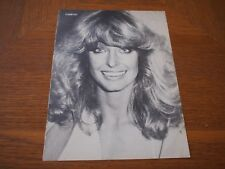 Vintage Farrah Fawcett Full page Clipping #19 Teen Mag Pin Up
