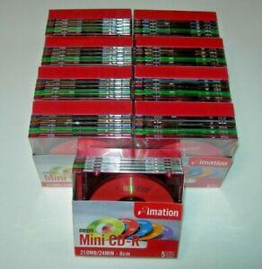 Caja 5 Mini Compact Disc grabable Imation CD-R 210MB/24min - 8cm