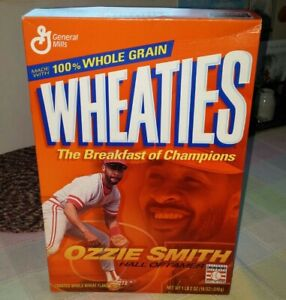 VTG Unopened Ozzie Smith St. Louis Cardinals Hall Of Famer Wheaties Cereal Box
