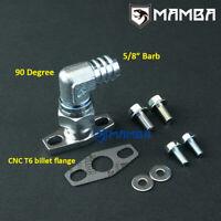 """90 Deg 5/8"""" Barb Turbo Oil Return Flange Kit HKS GT3040 GT3540 Garrett GT3082R"""