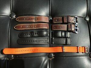 Lot of 5 Watch Straps: M. Dirksen Brown Leather 24mm, Panerai 24mm, NATO 20mm!!!