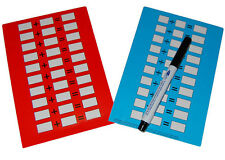 2x Numeracy/Maths Skill Practise Dry Wipe Cards & Pen
