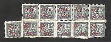 Italy Revenue Stamp Marca Da Bollo Istituto Nazionale Fascista /11 Pcs Used