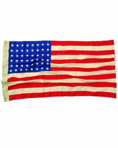 Vintage USA Flagge gestickt 48 Sterne 90x150cm 48 Stars Flag Hot Rod Rockabilly