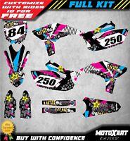 Custom Graphics Full Kit to Fit Yamaha YZF 250 2010 - 2013 RUSH STYLE stickers