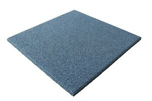 Fallschutzmatten Spielplatzmatten Gummiplatten Fallschutzplatte Grau 50x50x2,5
