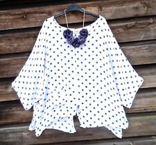 BASSINI Quirky Lagenlook Polka Dot Batwing Top PLUS SIZE