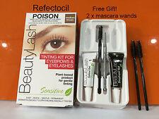 Refectocil Eyelash Eyebrow Sensitive Tint Kit  medium brown GENTLE PLANT-BASED