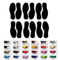 12 Shoe Foot Print Decal Sticker for Home Car Window Wall Floor Shore Decor Art