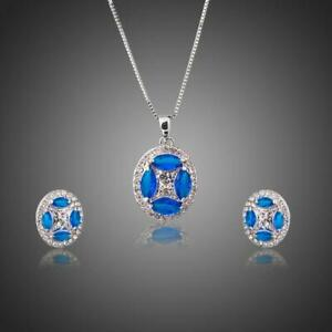 Gifts For Teenage Girls BLUE MARQUISE OVAL JEWELRY SETS KHAISTA