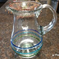 New listing Mexican Hand Blown Pitcher