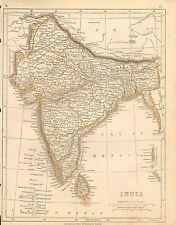 1853 Ca ANTIQUE MAP H/COL LOWRY-INDIA