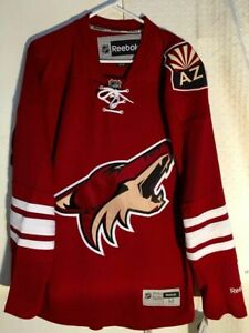 REEBOK NHL PREMIER ARIZONA COYOTES RED TEAM JERSEY MEN'S SIZE MEDIUM New $100
