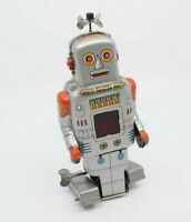 VINTAGE JAPAN YONEYA SY MECHANICAL WALKING ROBOT WITH SPARK SPACE TOY