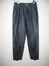 Real Comfort Womens Size 8 Genuine Leather Pants Solid Black