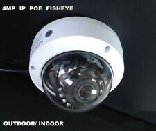 4MP IP POE Fisheye Panoramic ONVIF camera 360 Degree Wide Outdoor Indoor - Audio