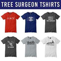 Tree Surgery Tshirt Mens Tradesman Lumberjack t shirt Tree Surgeon Fathers Day