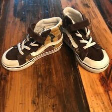 Vans Toddler Size 7.5 Camouflage Desert Brown High Top Off The Wall Sneakers