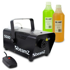 Beamz DJ Party Smoke Machine + Fog Juice Fluids Disco DJ Package 1L 500W