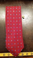 Brooks Brothers Red Blue Dot Floral Designer Mens Necktie Free Shipping
