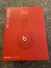 Red Beats By Dr Dre Solo HD Headphones (wired) With Case
