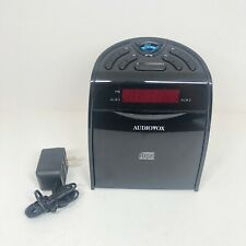 Audiovox Cd1120 Am/Fm Clock Radio with Cd Player & Power Supply Tested Works