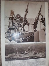 Photo article guided missiles on USS Boston and HMS Girdle Ness 1958