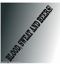 "Blood Sweat And Beers! Sticker 55"" x 2"" Gas Hot Rod VW Euro Monkey vinyl"