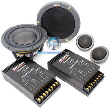 """ESOTEC SYSTEM 222 DYNAUDIO 5.75"""" COMPONENT SPEAKERS MIDS TWEETERS CROSSOVERS NEW"""