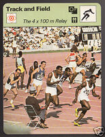 1968 OLYMPICS 4x 100m Relay Photo USA+ 1978 SPORTSCASTER CARD 52-03