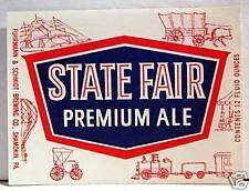 State Fair Beer Bottle Label Fuhrmann Schmidt Shamokin