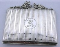 VINTAGE 100 YEAR OLD ANTIQUE LETTER R STERLING SILVER PURE .925 PURSE EBS4730