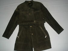 women's CASLON LEATHER COAT jacket   XL  NEW