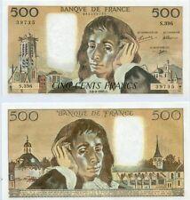 Gertbrolen 500 FRANCS PASCAL du 6-8-1992    S. 396 Billet Numéro  989239735