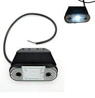 LED Begrenzungsleuchte 12/24V Umrissleuchte Anhänger LKW 120x74x45 mm E9 weiß