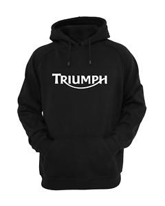 Triumph motorbike hoodie, black, top quality, various sizes