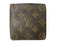 Authentic Louis Vuitton Monogram Portefeuille Marco M61675 PVC Leather 93063