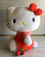 A38 Sanrio Hello Kitty Red Cherry Dress Plush! 13 Inch Lovey Stuffed Toy