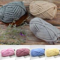 100g Chunky Yarn 1 Ply Hand Knitting Crochet Thick Thread for Bag Carpet Cushion